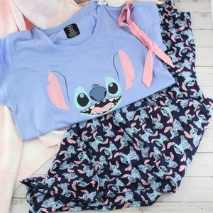 Disney Stitch Pants & Tee PJ Set